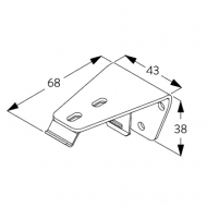 Wall/Ceiling Bracket (white only)