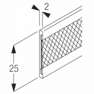 2510 Velcro insert rail (per metre)