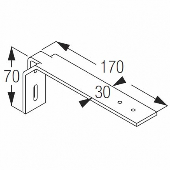 Extension bracket (Discontinued) Stock still available sept 2018