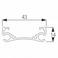 4412 Support Bar (per metre) (Obsolete)