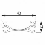 4412 Support Bar (per metre) (Obsolete)