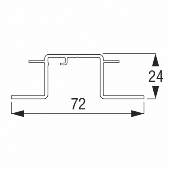Recess profile Silver or White (per metre)  (Discontinued)