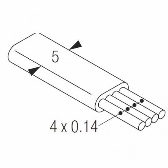 4 core low voltage cable (per metre)