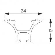 6822 Funnel Rail ONLY White (per metre)
