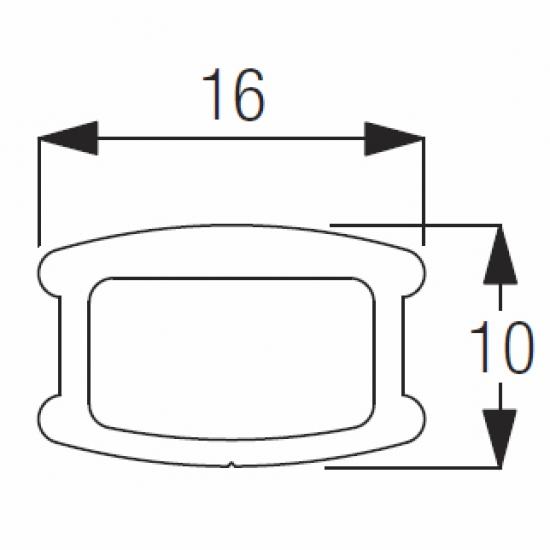 8003 Bottom bar (15mm) (per metre)