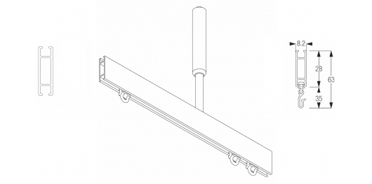 1085 Shower rail system  (Discontinued April 2019)