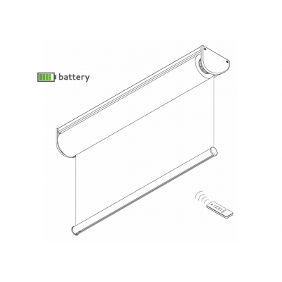 4955 Battery operated Roller Blind System