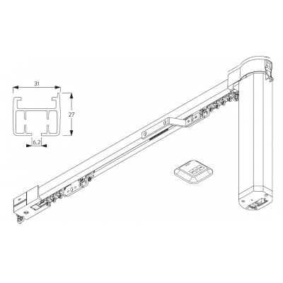 5100B Autoglide Basic system with Wireless wall switch and Multi-System Operating