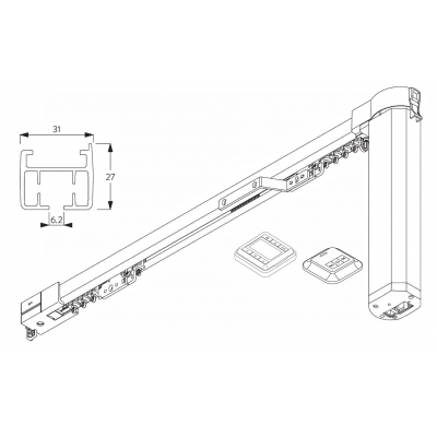 5100T Autoglide with Wireless wall switch and Timer - Single system