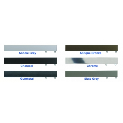 6100M Anodic Grey, Antique Bronze, Charcoal, Chrome, Gunmetal, Slate Grey