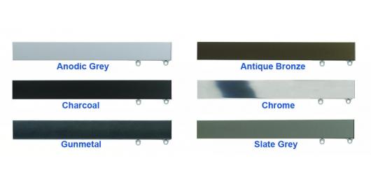 6100M Anodic Grey, Antique Bronze, Charcoal, Chrome, Gunmetal, Slate Grey
