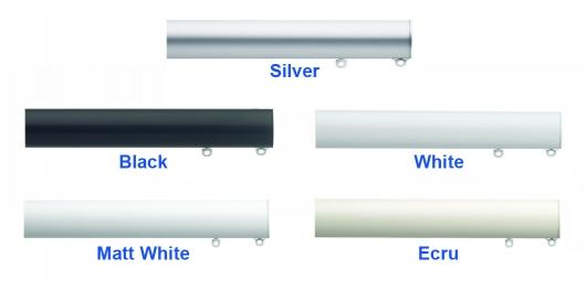 Silver, Black, White, Matt White, Ecru