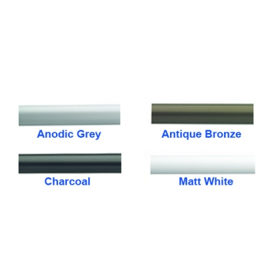 6840 Anodic Grey, Antique Bronze, Charcoal, Matt White