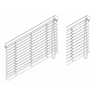 8910 (50mm) Mono Controlled 50mm Wooden, Aluminium and Leather slat systems