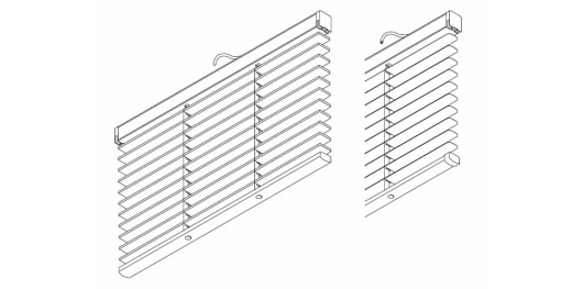 8950 Electric 25mm & 50mm Wood and 50mm Aluminium slat system  (Discontinued 2016)